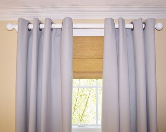 Grey Curtain Panels. Nuetral.Blackout Available. Window Treatment. Drapery.Premier Prints. Two Curtain Panels. Choose Rod Pocket or Grommets