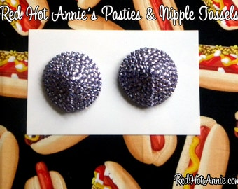 Amethyst Rhinestone Burlesque Pasties (Lt Purple)