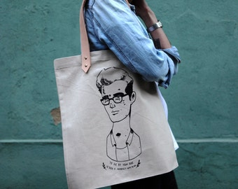 Tote Bag - Screenprint Over Cotton Canvas With Leather Tote Bag Morrissey