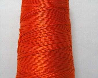 INTERNATIONAL ORANGE - 60 gm - Viscose Rayon Art Silk Thread Yarn - Embroidery Crochet Knitting Lace Jewelry Trim Artwork