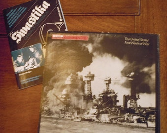WWII Vinyl Record and Booklet of Cinema Propaganda of Germany, Japan, Italy and Spain Time Warner