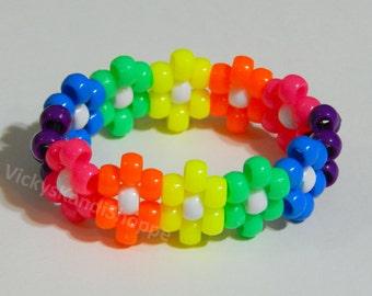 Rainbow Daisy Kandi Bracelet