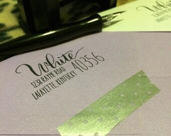Jackson Handwritten Address Stamp, Self Inking or Rubber Stamp