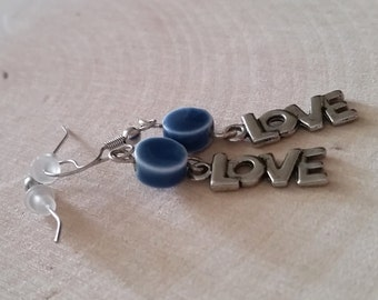 Self-Love Navy Blue Earrings