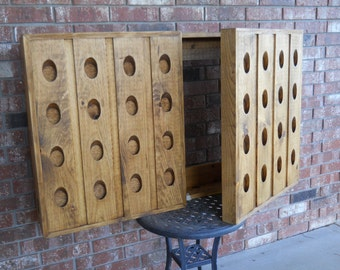 Riddling Rack Media Center, TV Media Center, Rustic Media Center, Riddling Rack, Rustic TV Riddling Rack