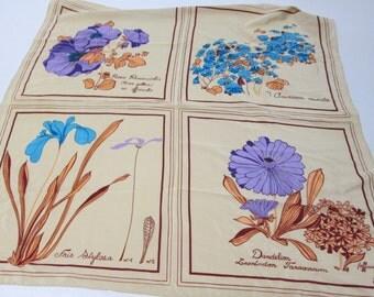 Vintage Echo Ecru Floral Print Scarf