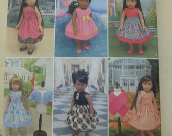 """Simpliciy 1220 Doll Clothes Pattern - 18"""" All American Girl - Dresses"""