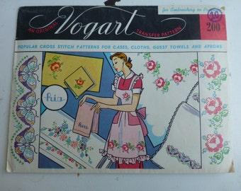Vintage Vogart Cross Stitch Transfer 200 - Butterlies/Flowers - unused
