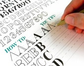 Printable Hand-Lettering Worksheet Set - 26 Page Set