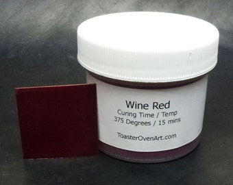 Wine Red Powder Paint
