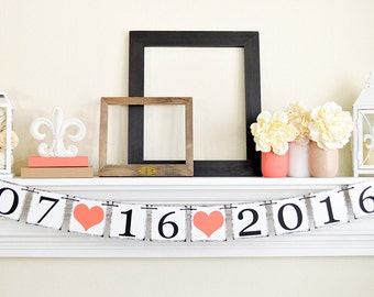 Enregistrer la Date bannière, faire-part de fiançailles fiançailles Photo Prop signe, enregistrer la Date signe, douche nuptiale Decor, B265