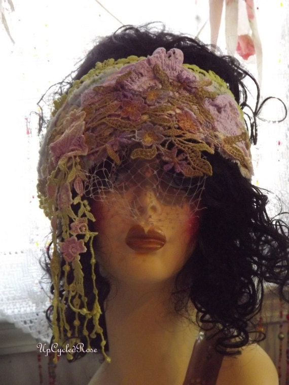 Lady Gwen's Garden Party Hair Wrap Shabby Couture Bohemian Free Sprit