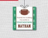 Football Party Favor Thank You Tags - Football Theme Birthday Party - Digital Design or Handcrafted Tags - FREE SHIPPING