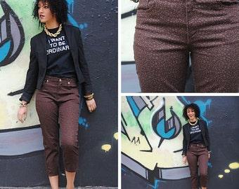 Skinny Jeans - Leopard Print Skinny Jeans Brown Skinny Jeans Size 6 Skinny Jeans Animal Print Skinny Jeans Cheetah Print Skinny Jeans Jeans