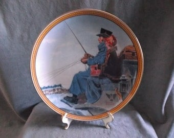 "Vintage Knowles Norman Rockwell Collectors plate "" The Journey Home""1987"