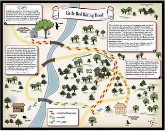 Little Red Riding Hood- Fairy Tale Map