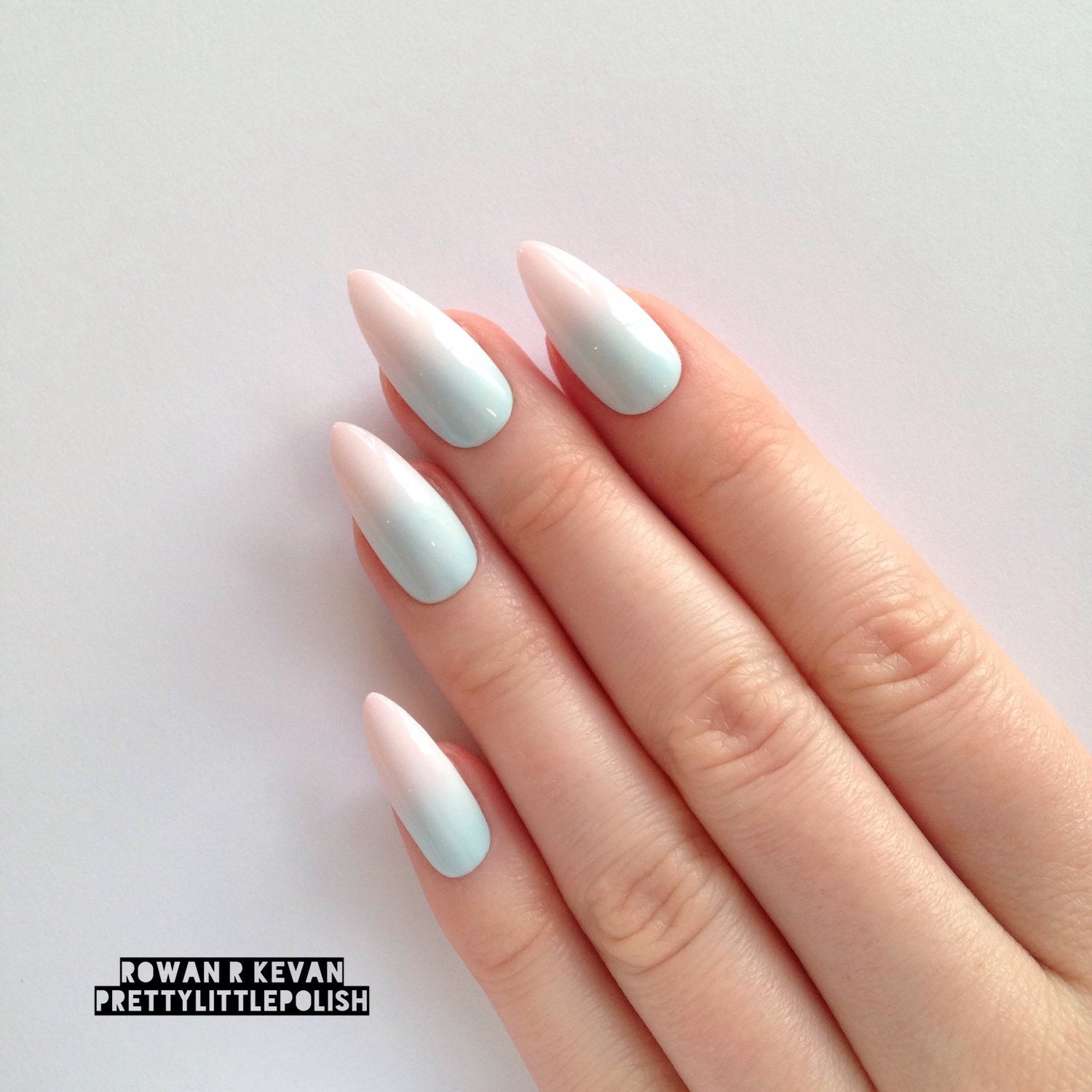 Gradient Stiletto Nails
