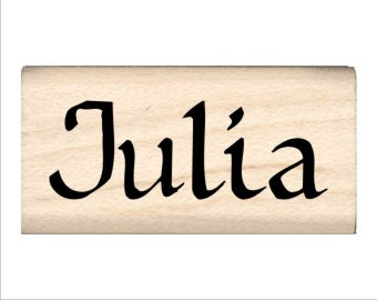 Name Rubber Stamp for Kids  - Julia
