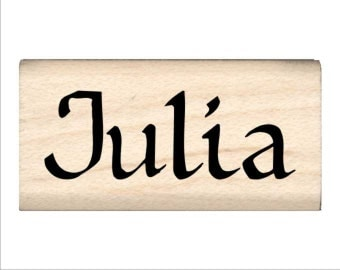 Julia - Name Rubber Stamp for Kids