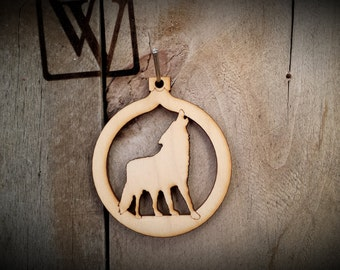 Wolf Cutout Ornament