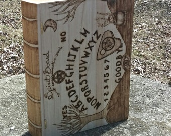 SALE Book Box Pagan Spirit Board Design Wood Burned