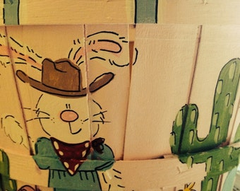 Easter Basket- Cowboy or Cowgirl Bunnies