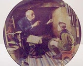 Norman Rockwell Plate, Vintage 1988, The Veteran, Knowles China Plate