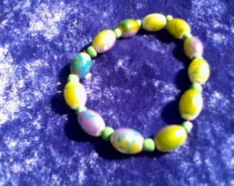 green purple bracelet