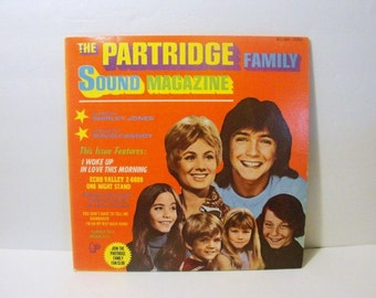 The Partridge Family Sound Magazine 33 1/3 R.P.M.  Album, Ten Songs Vintage Vinyl