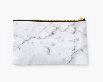 Marble Clutch Makeup Bag