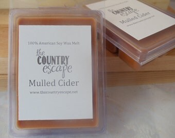 Mulled Cider Scented 100% Soy Wax Melt - Warm and Cozy -Maximum Scented