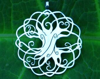 Tree of life - Iggdrasil pendant (1 3/4) - Stainless Steel