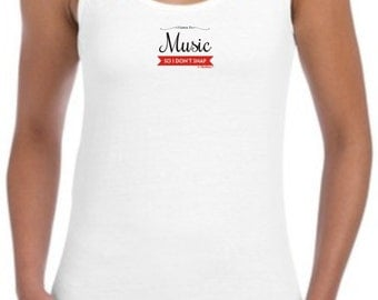 I Listen to Music So I Don't Snap Junior's Tank Top 64200L - PP-393