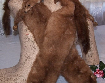 Wonderful Vintage Rhomberg's 4 Mink Shawl