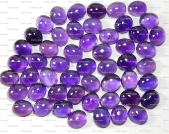 Lot 15 Pieces Top Quality Natural Amethyst Oval Shape Loose Cabochon Gemstone For Jewelry