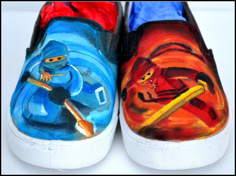 NinjaSchuhe jungen Schuhe malte Schuhe für Jungen Ninjas