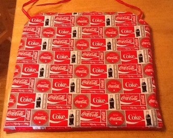 1inch thick Coke coca cola kitchen chair pads back is solid red