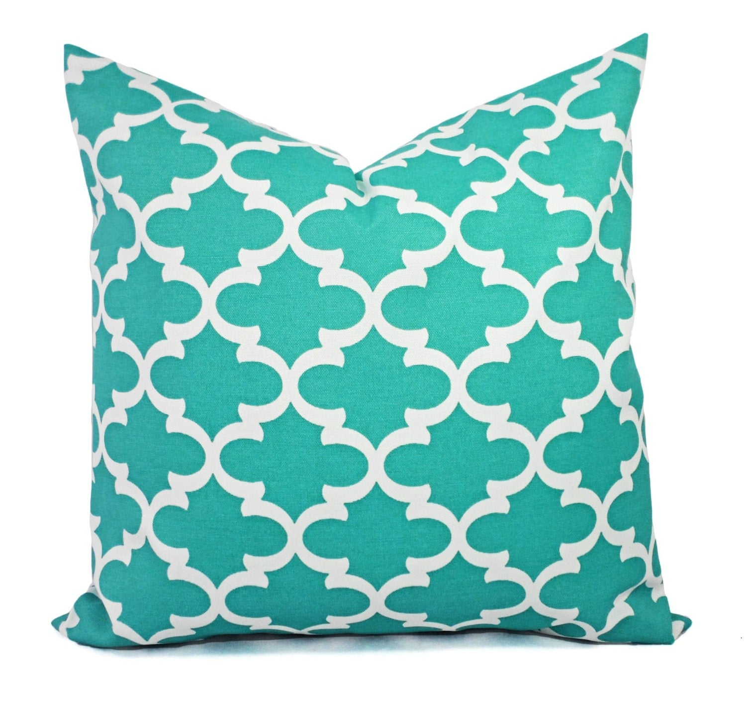 Two Indoor Outdoor Pillow Covers Quatrefoil by