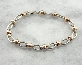 Lovely and Comfortable Vintage Rose and White Gold Bracelet F2VCHL-R