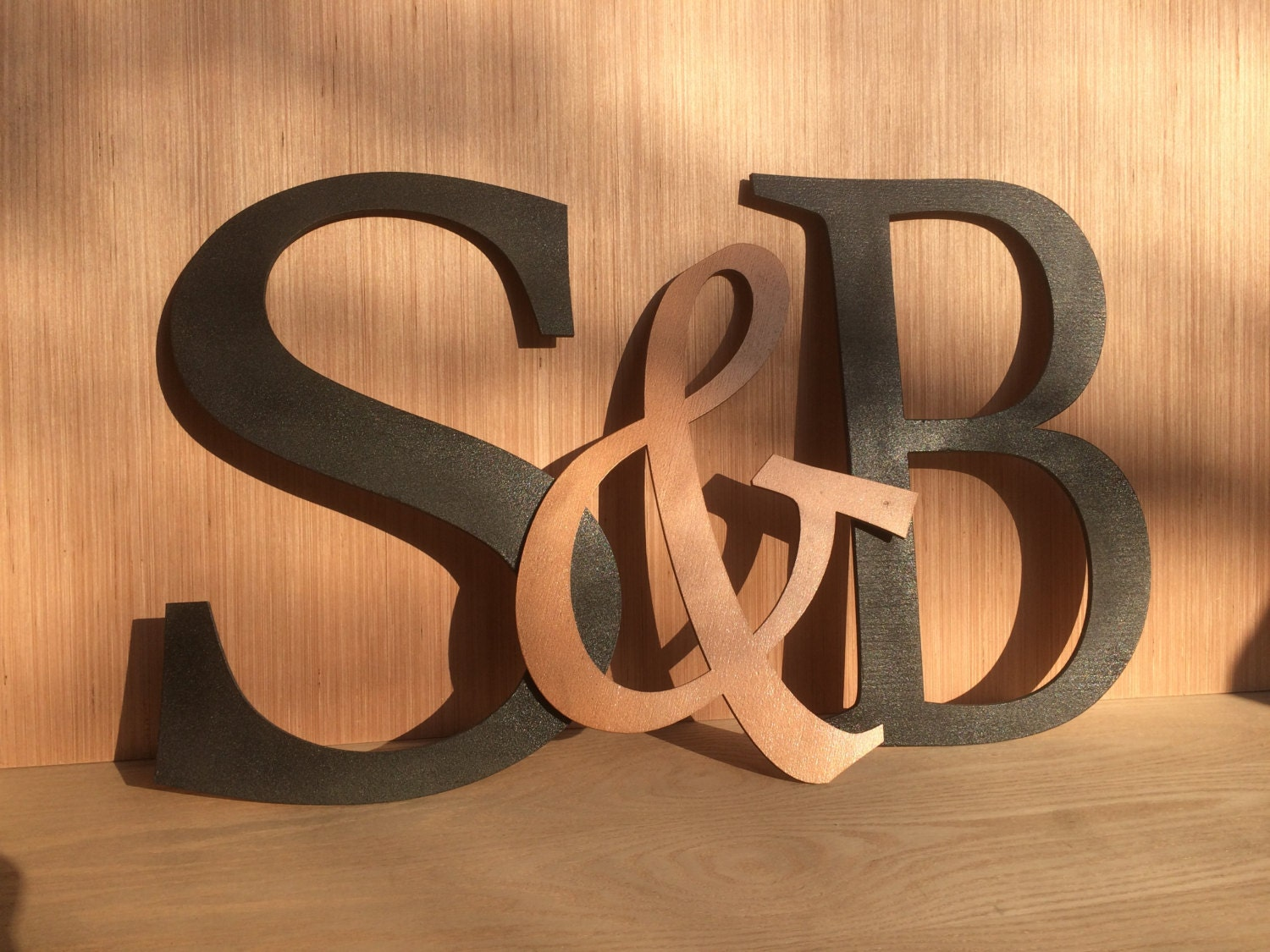16 large wooden letters monogram wall hanging by uncorkdart for Large initial letters