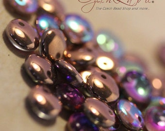 Lentils 6mm - Crystal Copper Rainbow: 25 pcs - 533