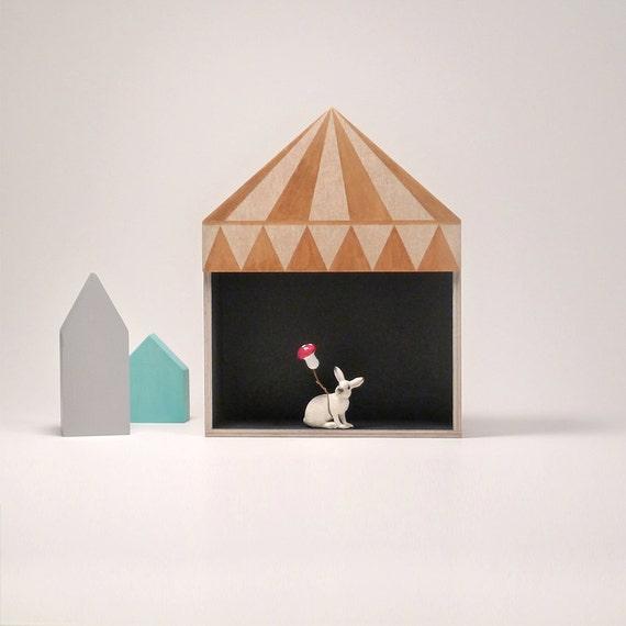 kids room decor circus box shelf plywood childrens