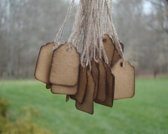 """100 Stained Scalloped Hang Tags, sized 3/4"""" x 1 3/32"""", Jewelry tags, scalloped jewelry tags"""