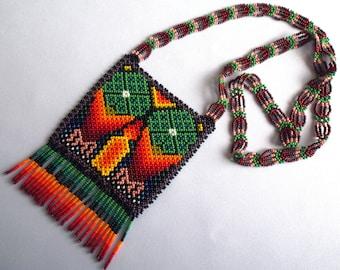 Huichol Beaded Peyote Necklace
