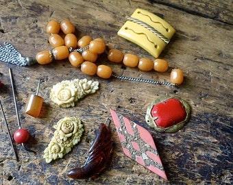 Vintage Bakelite, Celluloid Lot