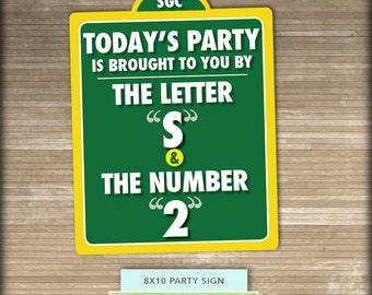 Sesame Street PRINTABLE Party Sign // 8x10