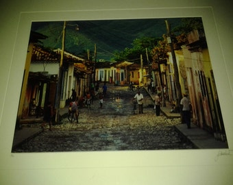 A superb Lucio Sollazzi Italian painter limited edition hand signed and numbered giclee framed