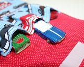 London Car Wallet, Toy Car Carrier, Car wrap for Hot Wheels or Matchbox size cars