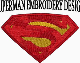 Superman Embroidery Design - Complex filled Embroidery Machine Design