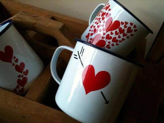 Valentines Enamel mug
